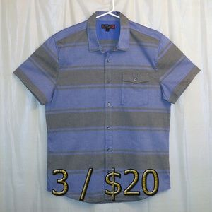 3/$20 G by Guess Button Front Shirt XL Striped